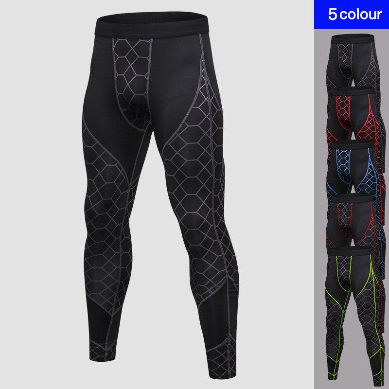 2018 Quick Dry Sportswear Hosen Männer Hohe Elastische Jogger Hosen Männer Im Freien Engen Fitness-studios Hosen Herren Leggings Für Fitness