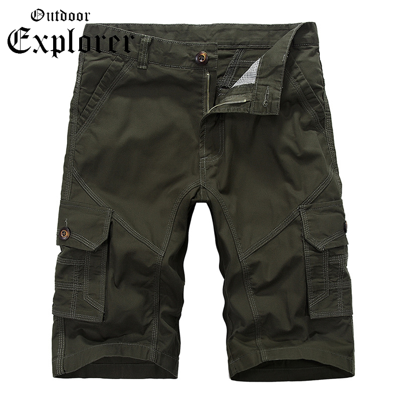 2017 Hot Summer Men's Army Cargo Work Casual Bermuda Shorts Men Fashion Joggers Overall military Trousers Plus size 30 40