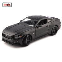 Maisto 1:18 Mustang 2015 GT 5.0L American Muscle Car black Sports Cars Models 26cm Kids Toys Diecast Matel Car modes
