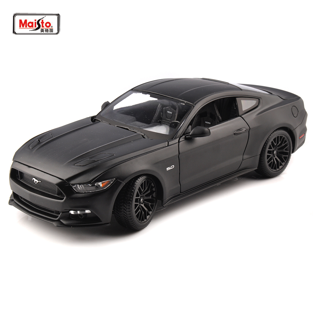 Maisto <font><b>1:18</b></font> Mustang 2015 GT 5.0L American Muscle <font><b>Car</b></font> black Sports <font><b>Cars</b></font> <font><b>Models</b></font> 26cm Kids Toys <font><b>Diecast</b></font> Matel <font><b>Car</b></font> modes image