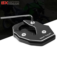 For KAWASAKI VERSYS 300 VERSYS X300 X250 CNC Motorcycle Aluminum Side Stand Enlarger Plate Pad Foot Kickstand Enlarge Extension