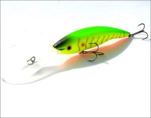 Image 3 - 2 adet uzun dil zoka yapay balık 14g 13.5cm sert yem yüzen Crankbait Pesca Topwater Wobblers balık olta takımı