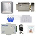 DIYSECUR Complete 125KHz RFID Keypad Access Control System + Electric Lock + Power Supply Security Product 8168A