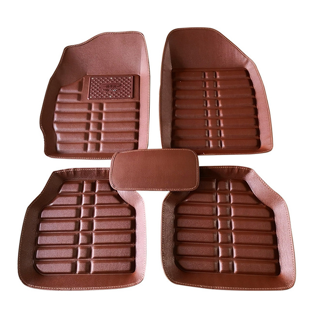 Us 55 83 30 Off Universal Faux Leather Car Floor Mat Clean Foot Carpet Foot Pad In The Car Under Your Feet Automobile Car Waterproof Floor Mats In