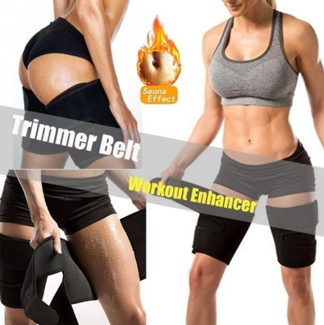 Leg Shaper Sauna Sweat Thigh Trimmers Calories off Warmer Slender Slimming Legs Fat Thermo Neoprene Compress Belt Face Lift Tool 2