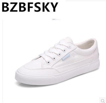 BZBFSKY/Женская парусиновая обувь; сезон весна; милая повседневная обувь для девочек с изображением щенка; Очаровательная Женская обувь белого