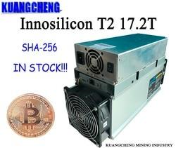 Gebruikt Oude Mijnwerker SHA256 Mijnwerker Innosilicon T2 (Een Machine) 17.2T Asic Miner Btc Mining Machine 10nm Gratis Verzending Met Voeding