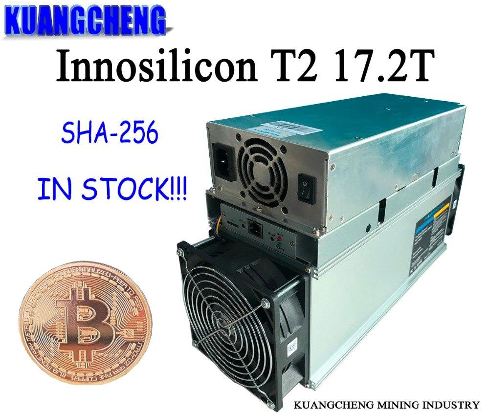 Utilisé ancien mineur SHA256 mineur Innosilicon T2 (une machine) 17.2T ASIC mineur BTC machine minière 10nm livraison gratuite avec alimentation