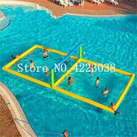 Free Shipping 12*6 Inflatable Water Sports Games Inflatable Volleyball Field Inflatable Beach Volleyball Field For Sale
