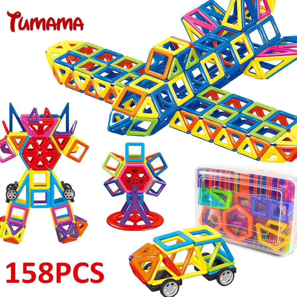 TUMAMA 158 PCS Mini Magnetic Blocks Enlighten Education Letter Building Blocks Number font b Toys b