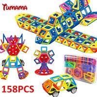 TUMAMA Mini Magnetic Blocks 158 Piece Letter Number Enlighten Education For Children Kids Girls Boys With