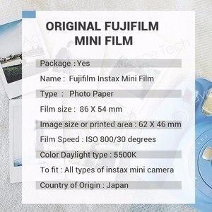 Image 5 - Fujifilm Instax Mini 9 Film bord blanc 10 20 40 60 100 feuilles/paquets papier Photo pour appareil Photo instantané Fuji 8/7s/25/50/90/sp 1/sp 2