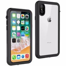 For iPhone X Waterproof case life water Shock Dirt Snow Proof Protection for With Touch  ID Case Cover