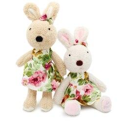 Le sucre Usando um vestido 30 cm kawaii brinquedos de pelúcia de Coelho coelho Stuffed dolls kids brinquedos presentes, a roupa pode ser decolar