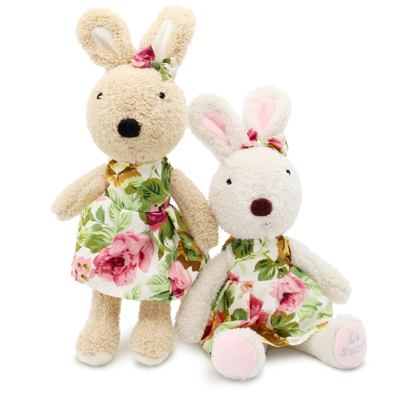 цены le sucre Wearing dress 30cm kawaii Rabbit plush toys bunny Stuffed dolls kids toys gifts,clothes can be take off