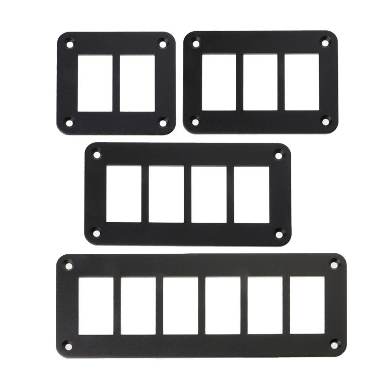 Auto Schalter Teile 2/3/4/6 Way Aluminium Kippschalter Panel Gehäuse ...