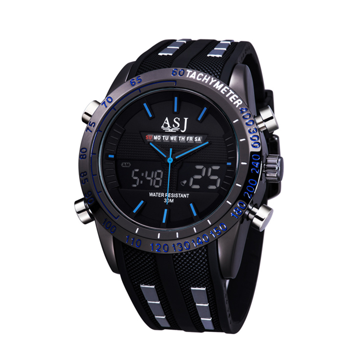 relogios masculinos 2016 ASJ Outdoor Blue Sports Watch Men Digital Watches Military Male Army Clock Quartz Mens LED Wristwatches weide men sports watches waterproof military quartz digital watch alarm stopwatch dual time zones wristwatch relogios masculinos