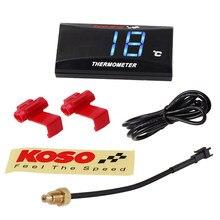 Koso mini medidor de temperatura da água para xmax250 300 nmax cb 400 cb500x temp sensor adaptador scooter corrida acessórios da motocicleta