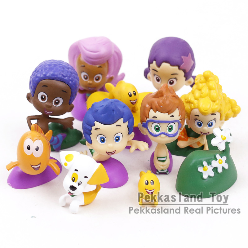 Bubble Guppies Bubble Puppy Goby Deema Gil Oona Underwater Scenery PVC Figures Kids Toys Gifts 12pcs/setBubble Guppies Bubble Puppy Goby Deema Gil Oona Underwater Scenery PVC Figures Kids Toys Gifts 12pcs/set