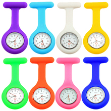 цены на 2016 New Cute Silicone Nurse Watch Brooch Fob Pocket Tunic Quartz Movement Watch  N76Y Store 51 в интернет-магазинах