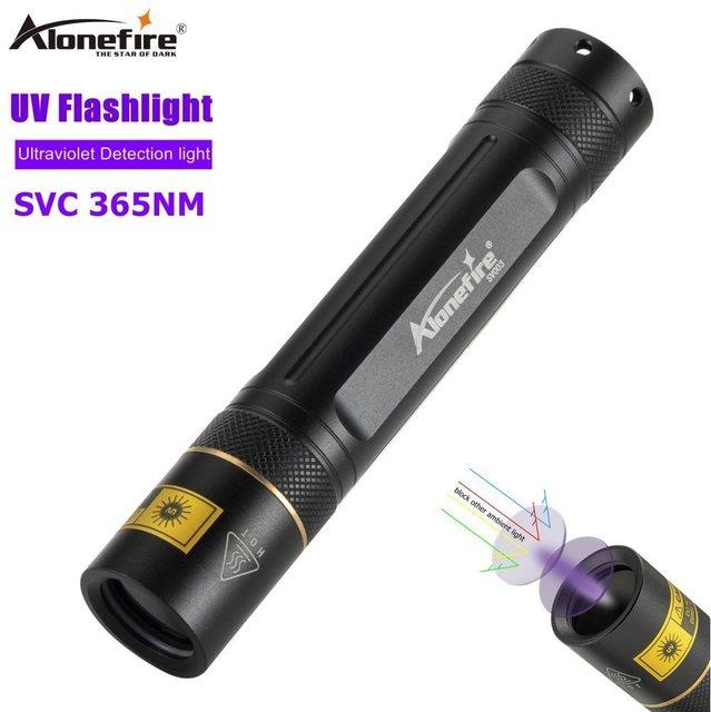 Alonefire sv003 lanterna led uv 10w, escorpião, luz ultravioleta, detector de dinheiro, manchas de animais de estimação, marcador de caça, tocha 18650