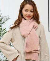 2018 FREE Shipping FRan Winter New Double Knit Small Scarf Nails Solid Color Double Side Thickening