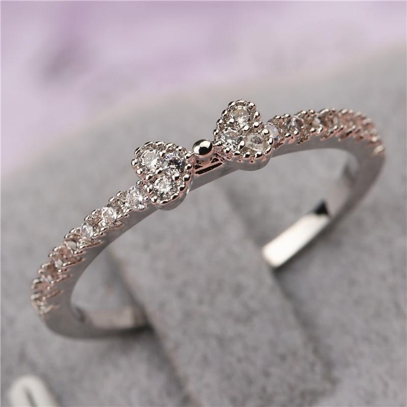 Fashion 3 fine jewelry accessories rhinestone rings delicate cutout
