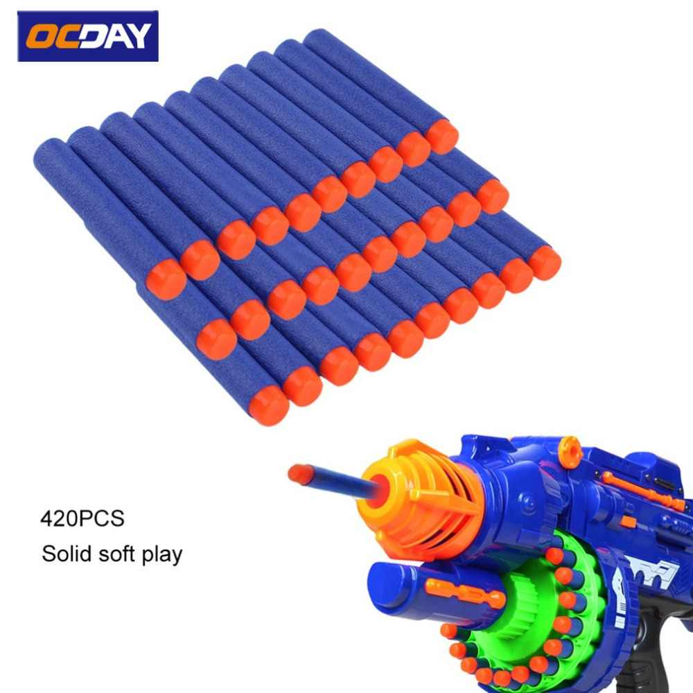 50/100 Pcs Lightweight EVA Bullet Darts Soft Gun Air Gun Bullets Darts For NERF N-Strike Series Blasters Kid For Toy Gun
