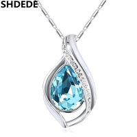 SHDEDE Water Drop Pendant Necklaces Crystal From Swarovski High Quality Fashion Jewelry Accessories For Women Gift
