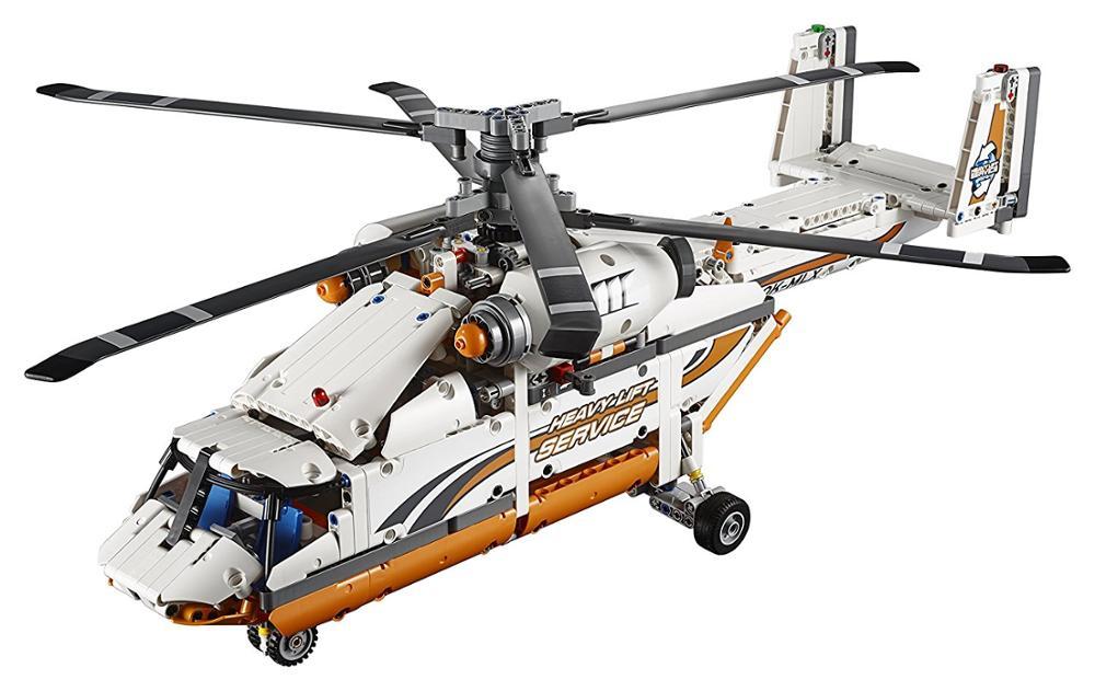 20002 テクニックシリーズダブルローター輸送ヘリコプターと 20031 高度な空気レースジェット飛行機戦闘機のビルディングブロックフィット legoed  グループ上の おもちゃ & ホビー からの ブロック の中 1