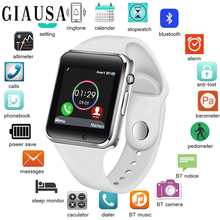 Free Shipping 2019 WristWatch Bluetooth Smart Watch Sport Pedometer with SIM Camera Smartwatch for Android Smartphone Russia T50 стоимость