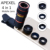 APEXEL Universal 8x teleobjetivo Zoom Teléfono Tele Lente Ojo de Pez Macro Amplia kit de lente de la cámara para iphone5s 6 6 s más 5 samsung s7 Xiaomi