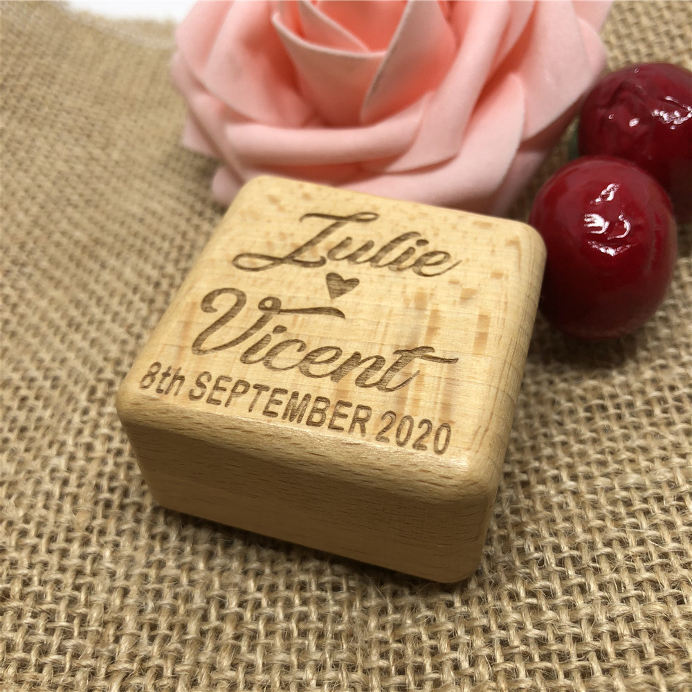Personalized Ring Box, Rustic Wedding Ring Bearer Box, Wooden Ring Bearer Box, Engraved, Rustic Wedding Customized Wedding Gift