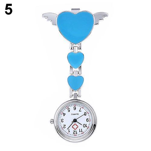 Women Lady Cute Love Heart Quartz Clip-on Fob Brooch Nurse Pocket Watch nurse watch