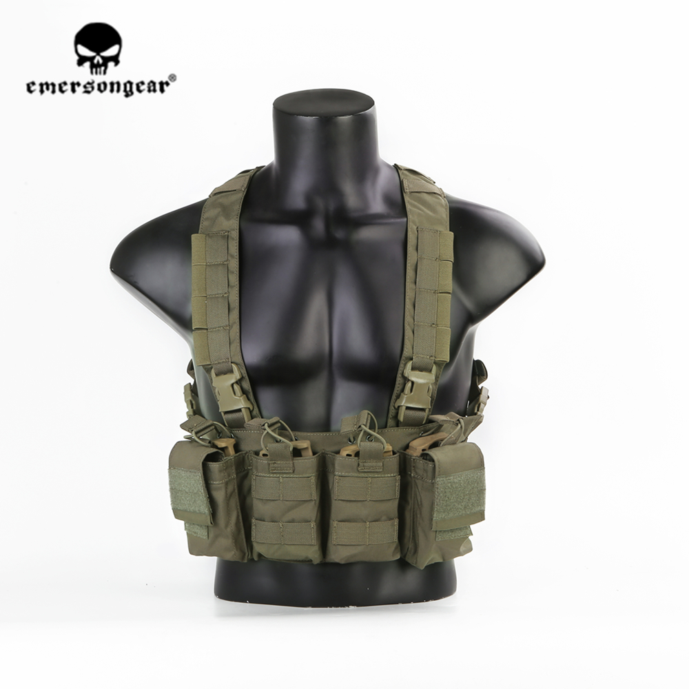 emersongear Emerson Tactical Easy Chest Rig Plate Carrier Cordura Nylon Ranger Green Vest Harness Lightweight Military