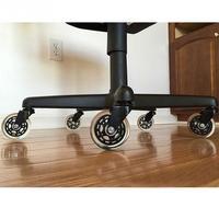 5 piezas rueda Universal 40KG silla de oficina giratoria rodillos de goma ruedas muebles Hardware