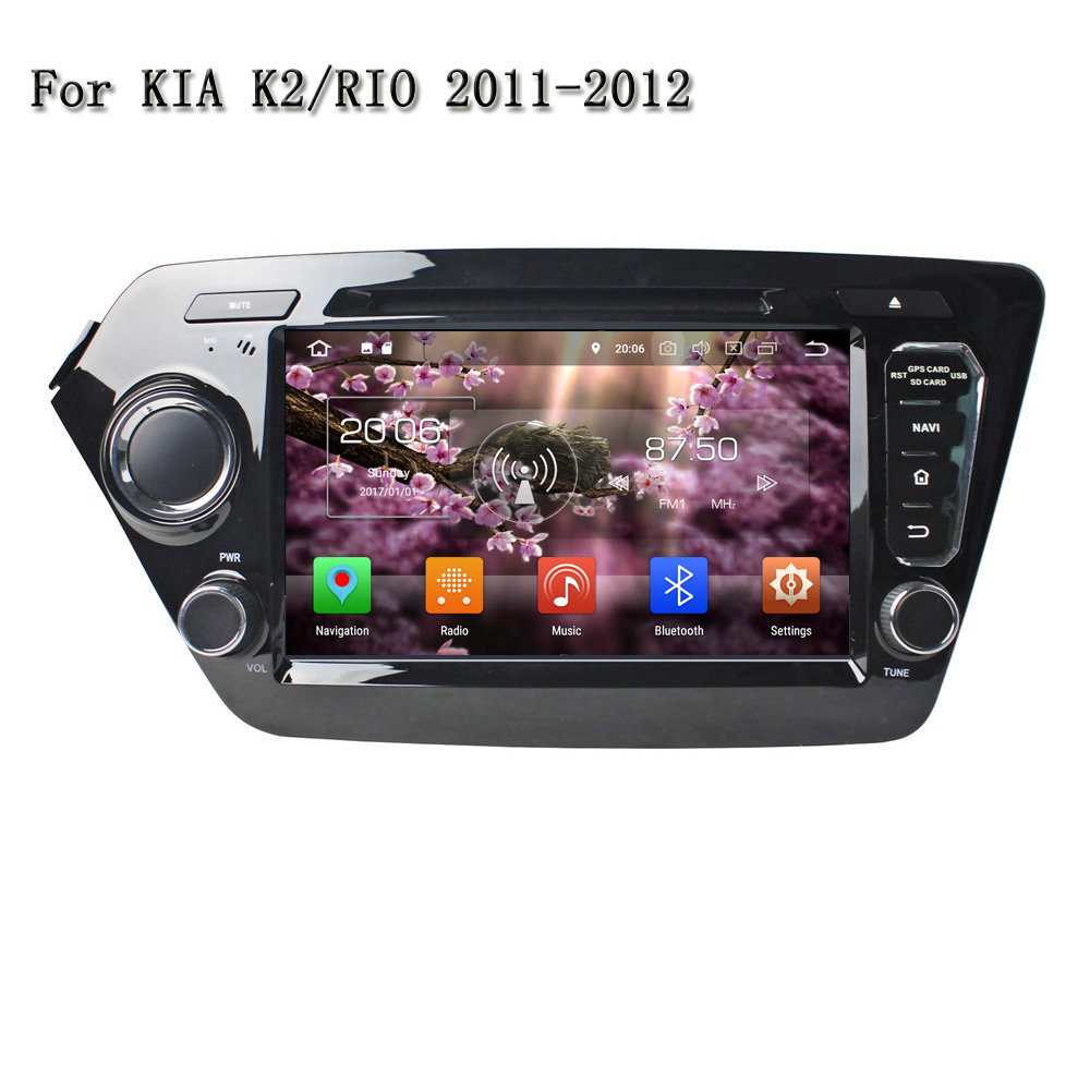 8 Inch Android 8.0 Car Radio 2 Din Car DVD Player With Bluetooth TV Wifi 3G/4G Mirror Link GPS Navi For Kia K2 RIO 2011-2012 8 inch 2 din tft screen car dvd player with radio bluetooth radio gps ipod functions for volkswagen