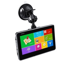1080 P Araba Dvr Android 4.4.2 Tablet GPS Navigasyon 4.5 Inç MTK8127 Bluetooth WiFi FM Player HD IPS Ekran Araba DVR Kaydedici Dash