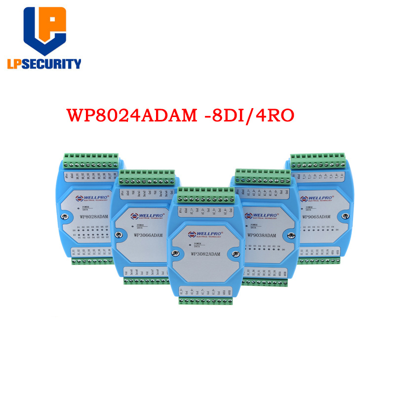 Digital Input And Output Module Isolated 8DI / 4RY RS485 MODBUS RTU WP8024ADAM