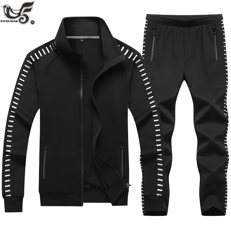 New Tracksuits Men Set Outwear Hoodies + Pants Suit Spring Sweatshirt Sportswear Set Male Hoodie Sporting Suits