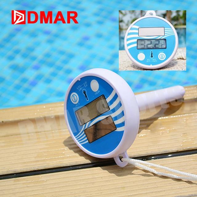 DMAR Плавающий термометр для Бассейна Солнечная Зарядка ЖидкокристаллическийЭкрана Инструменты Бассейна Аксессуары