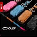 Frete grátis! Para MAZDA CX-5 cx5 2012 2013 carro de couro genuíno chave tampa carteira chave caso chave para cx-5 acessórios