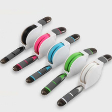 Retractable USB Data Cable For iPhone 2in1 Charging Cable For Samsung Android and other USB Data cable