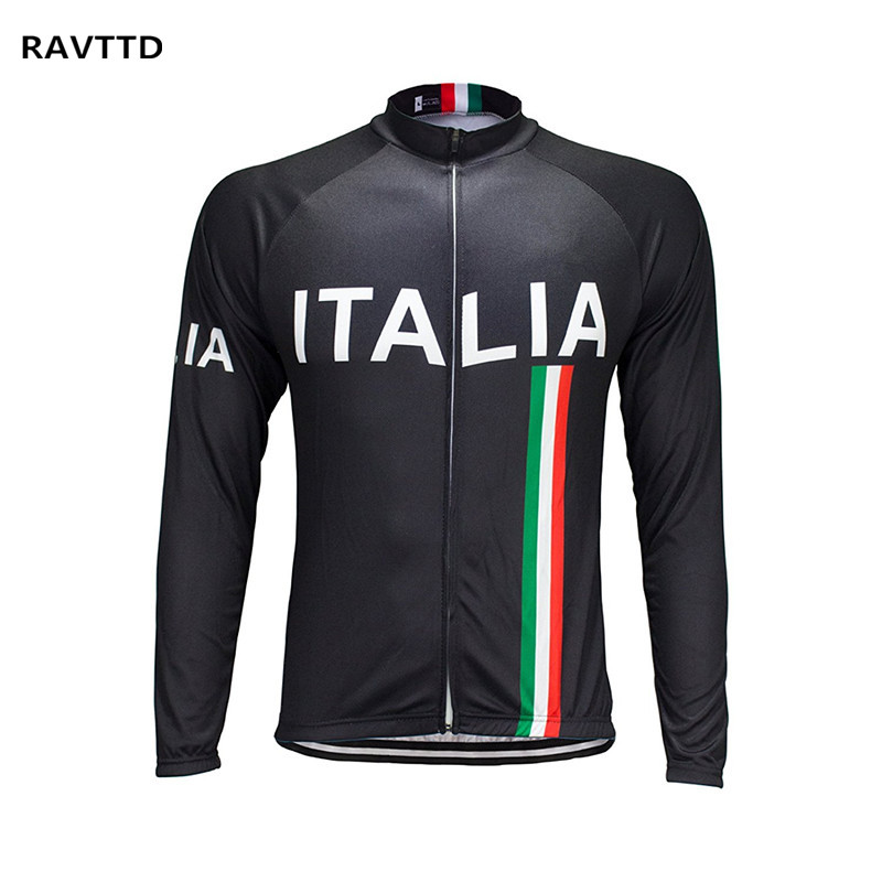 Italia Winter Thermal Fleece Cycling Jersey Long Sleeve Bike Bicycle Clothing Bike Riding Wear Cycling Clothing Roupa Ciclismo