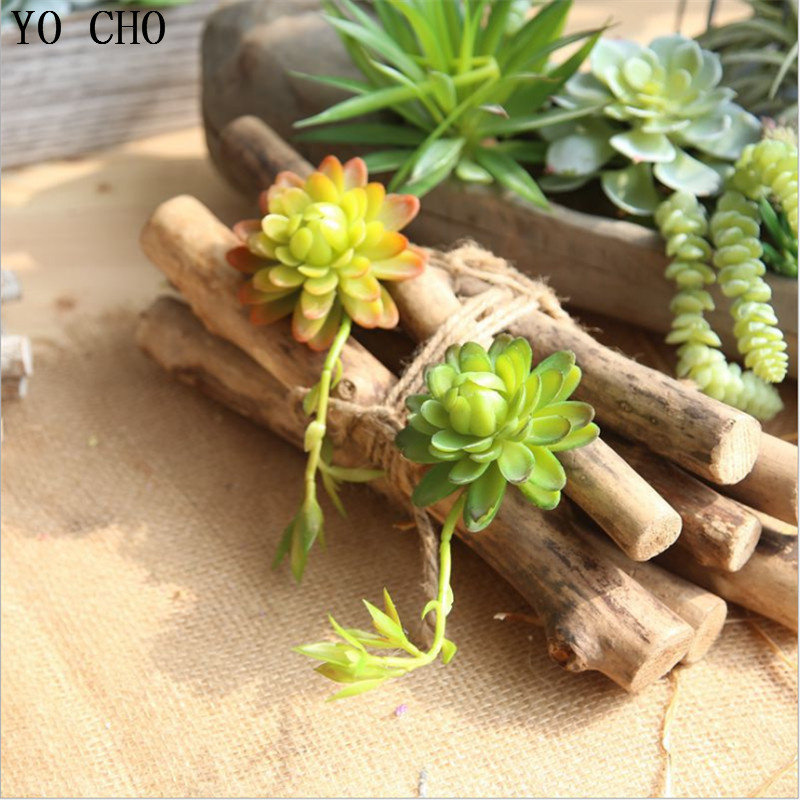 YO CHO 1PC Cheap Artificial Succulents Lotus Plant Home Garden Office Backyard Decor DIY Fake Flower Patio Furniture Decoration ...