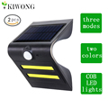 2pcs/pack Smart COB LED Solar Light Outdoor Solar Powered Motion Sensor Security Wall Light Garden Three Modes Bright Lamp