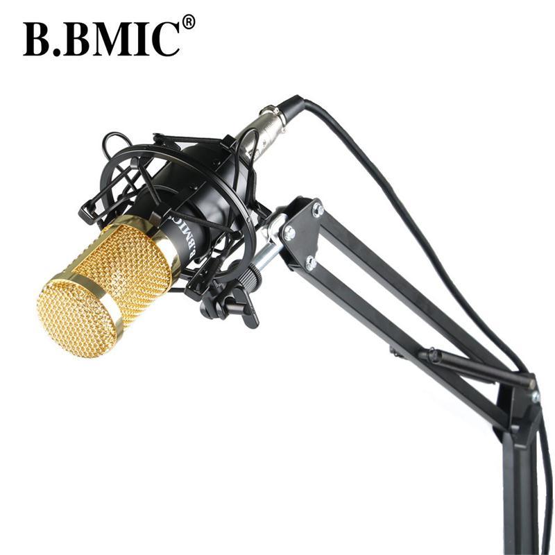 Prix pour Microphone Professionnel BM800 Condenseur KTV Microphone Pro Audio Studio Vocal Enregistrement Mic KTV Karaoké + Métal Choc MountMB800