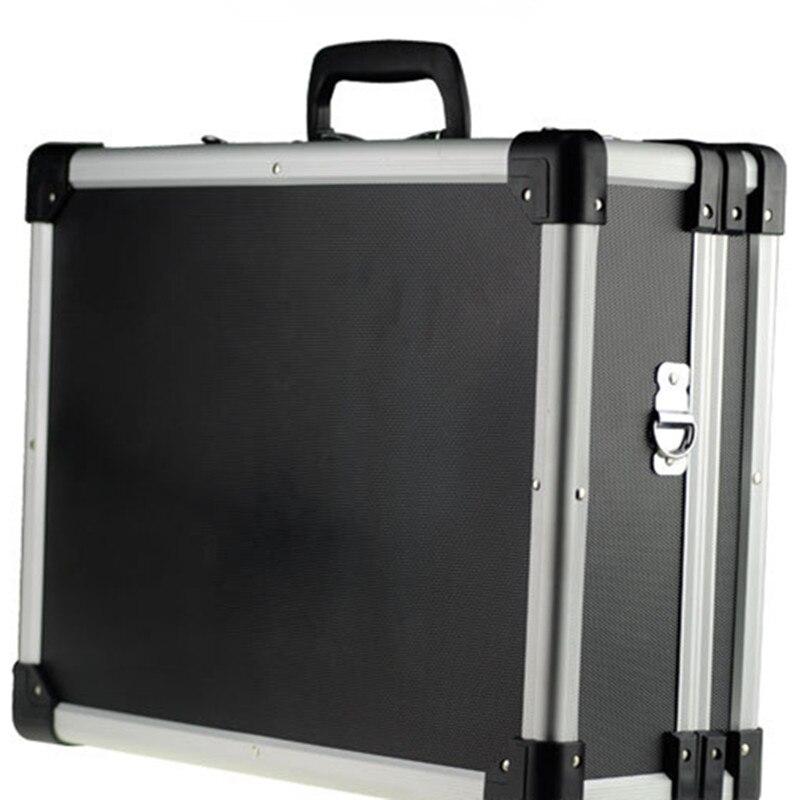 Алюминиевая Рама ABS пластина чемодан путешествия чемодан multi Функция toolbox двойной замок Коробка для отдыха сумки укрепить чемодан Ручной Че