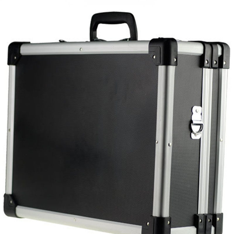 Aluminum frame ABS plate suitcase travel luggage multi function toolbox double lock box leisure bags reinforce luggage hand case