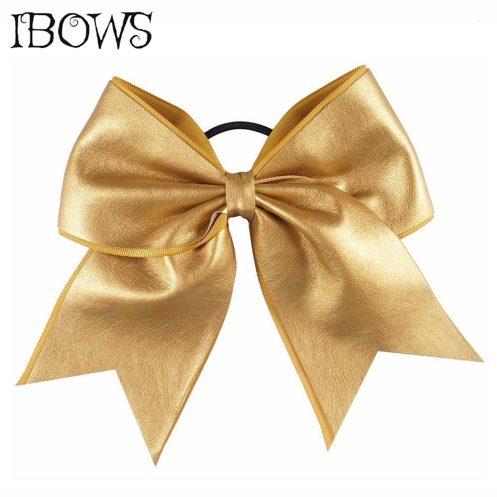 Women Girls Synth Leather Cheer Bows Ponytail Holder Bands Headwear Scrunchies Elastic Hair Bands Hair Accessories halloween party zombie skull skeleton hand bone claw hairpin punk hair clip for women girl hair accessories headwear 1 pcs